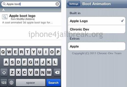 apple boot logo change