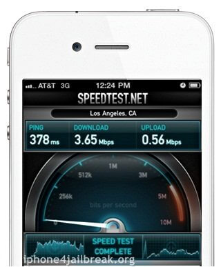 at&t internet speed iphone 4