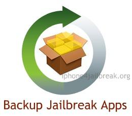 backup jailbreak apps