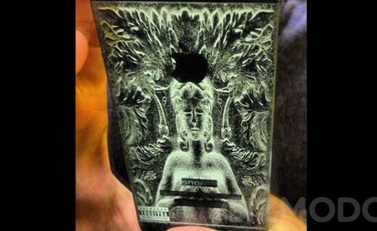 black iphone 5 laser engraving