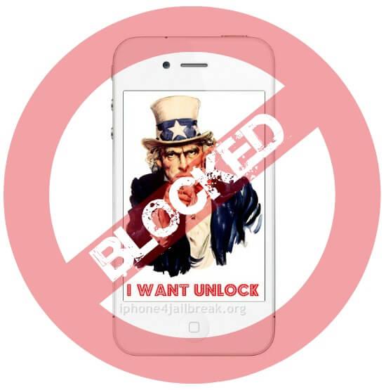 blocked sam unlock iphone 4
