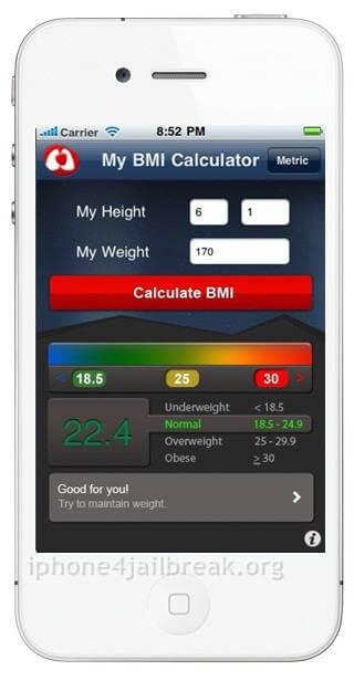 bmi calculator iphone 4s