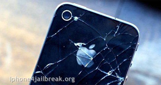 broken iphone 4-