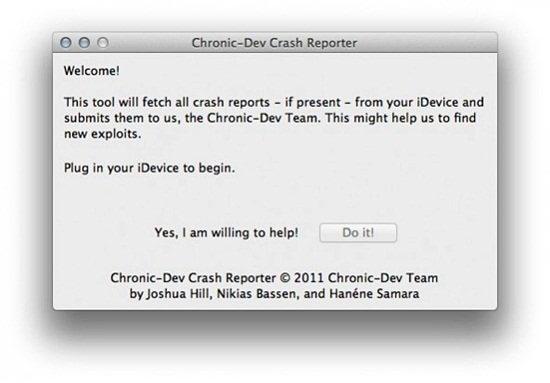 cdev crash reporter