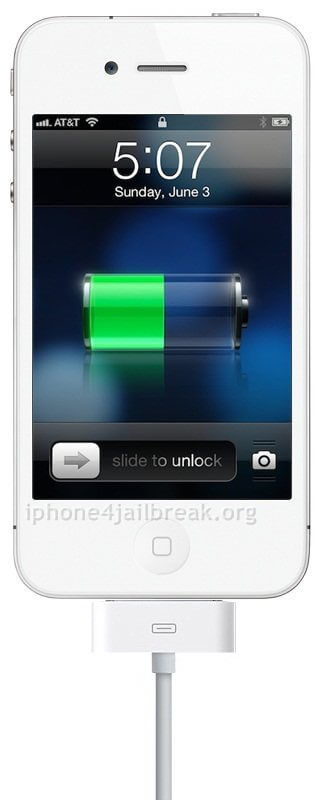 charging iphone 5  power cable lockscreen