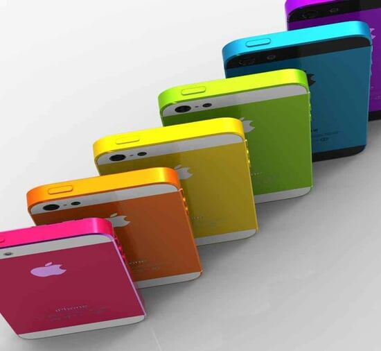 coloured iphone 5s