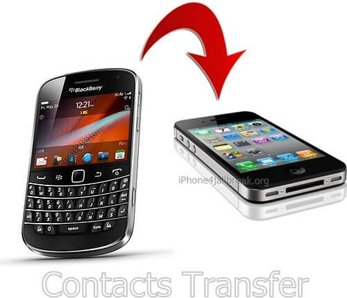contacts transfer - blackberry to iphone