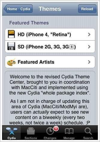 cydia theme centre