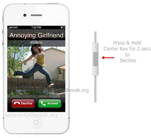 decline incoming calls iphone 5