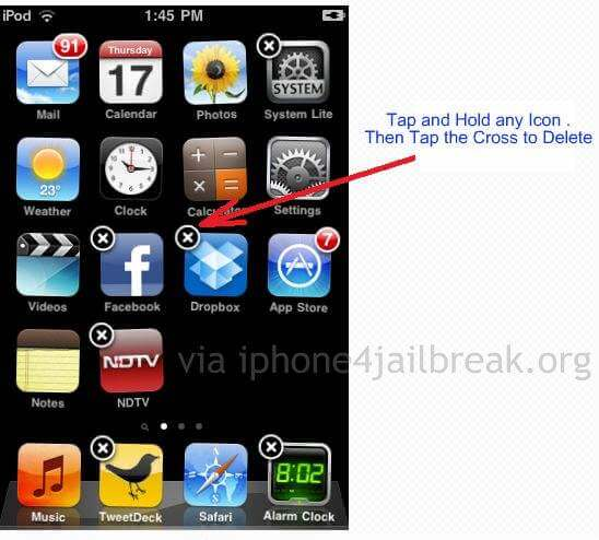 How to Delete Apps from iPhone 4
