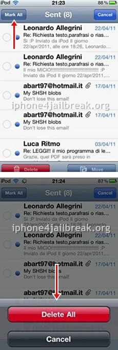 delete mail iphone 4 jailbreak app