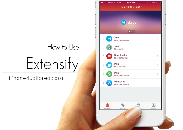 download extensify iphone 4