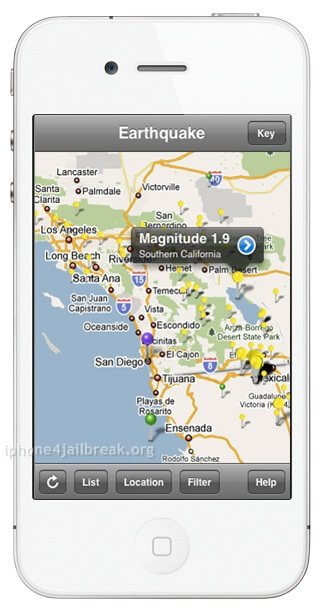 earthquake warning app iphone 4