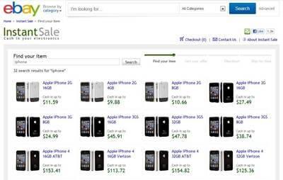 ebay instant sale page