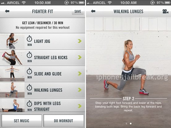 exercise app for iphone 4-