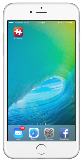 extensify app on ios 9 homescreen