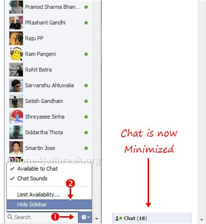 facebook chat sidebar hide