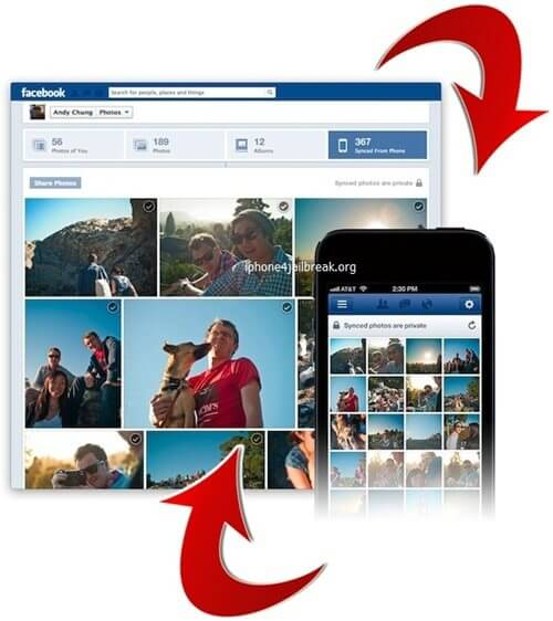 facebook photo sync iphone