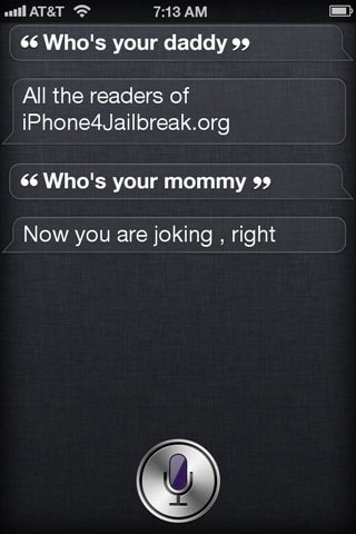 fake siri comments