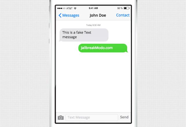fake sms iphone 6