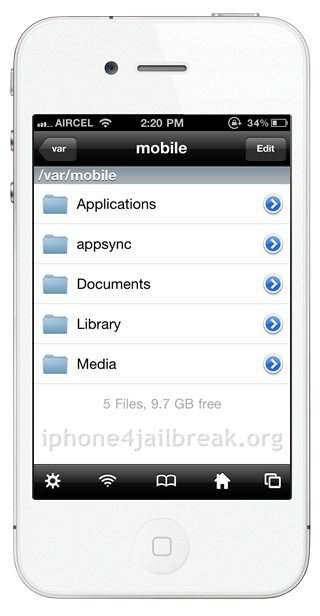 file manager iphone 4