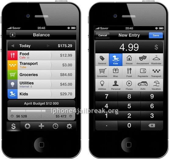 finance management tool iphone 4