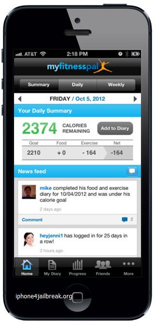 fitness app iphone 5 calorie counter