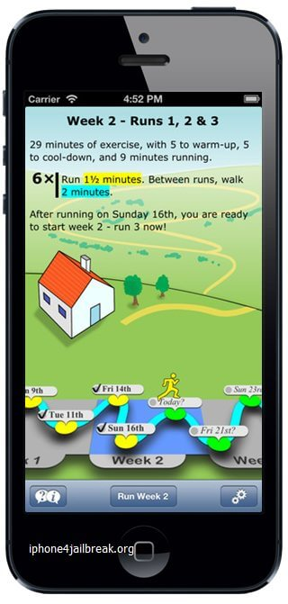 fitness app iphone 5 running jogging