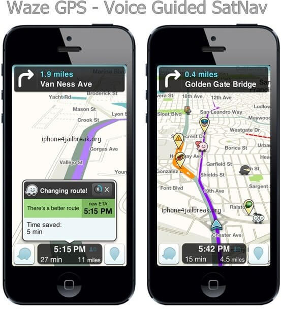 free satnav for iphone 5