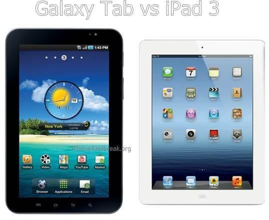 galaxy tab vs iPad 3