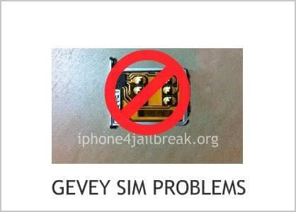 gevey sim problems