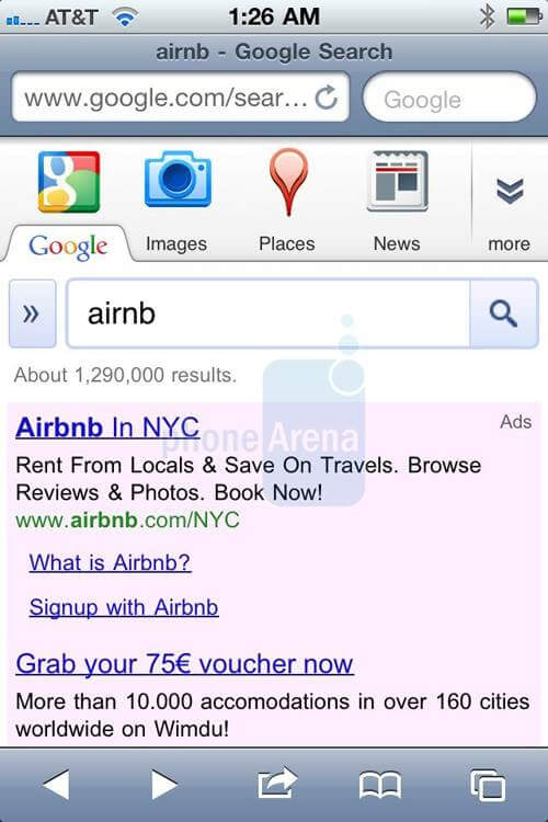 google iphone search-page (