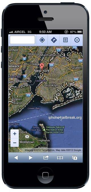 google maps ios 6 iphone 5