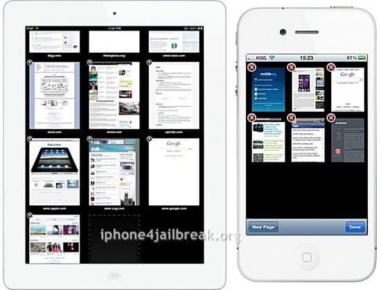 gridtab ipad like tabs on iphone 4