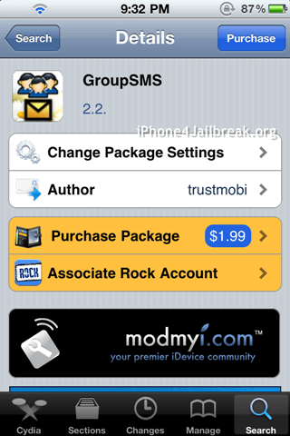 group sms iphone 4