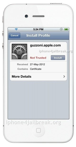 guzzoni apple sirport certificate siri
