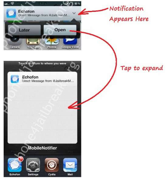 how to use mobile notifier