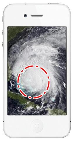 hurricane irene iphone 4