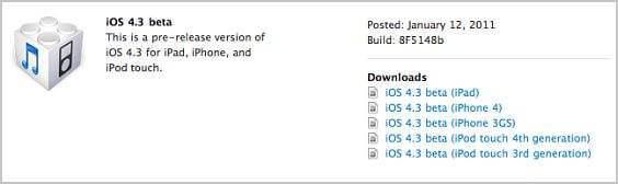 iOS-4.3 beta firmware download