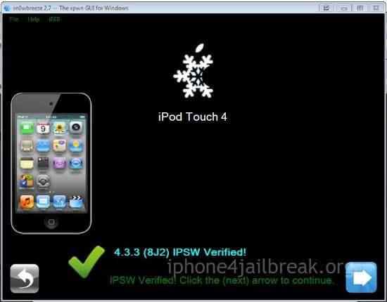 iOS 4.3.3 jailbreak snowbreeze