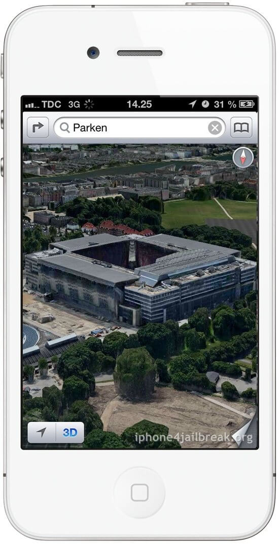 iOs 6 3D maps sample germany