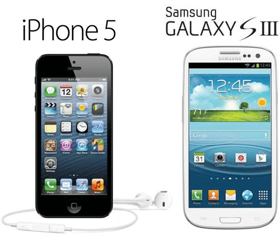 iPhone-5-Galaxy-S-III vs iphone 5