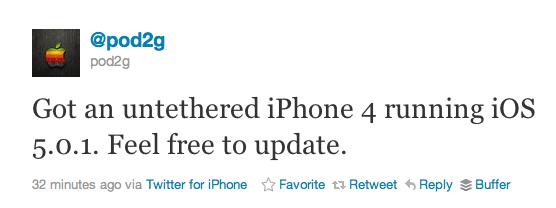 iPhone-ios 5.0.1 untethered-jailbreak