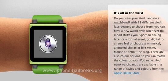 iPod Nano SIRI Enabled Watch