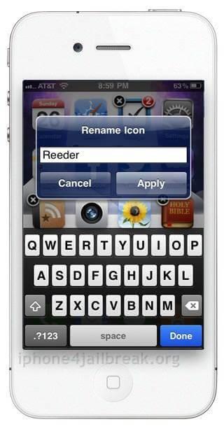 icon renamer iphone 5