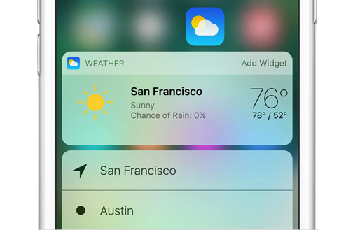ios 10 weather