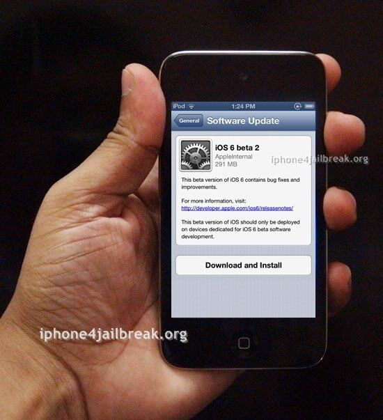 ios 6 beta download iphone 4S