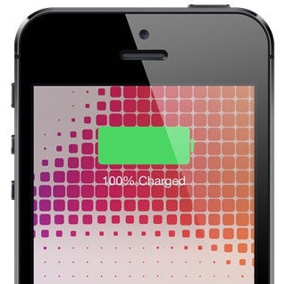 ios 8 battery charge full