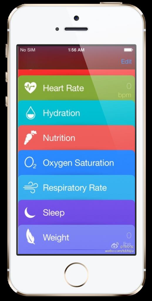ios 8 healthbook iphone 6  (2)