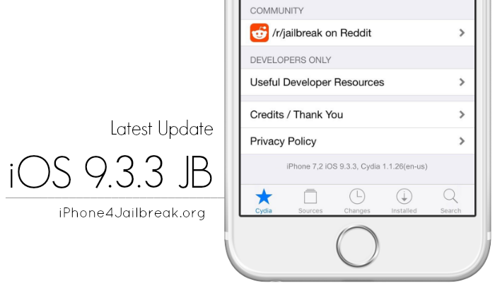 ios 9.3.3 jailbreak iPhone 4